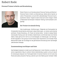 Interview Personal Trainer und Coach Robert Rode bei EVIDERO
