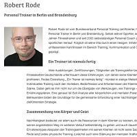 Interview Personal Trainer und Coach Robert Rode bei EVIDERO
