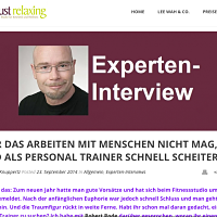Interview Personal Trainer & Autor Robert Rode bei Just Relaxing