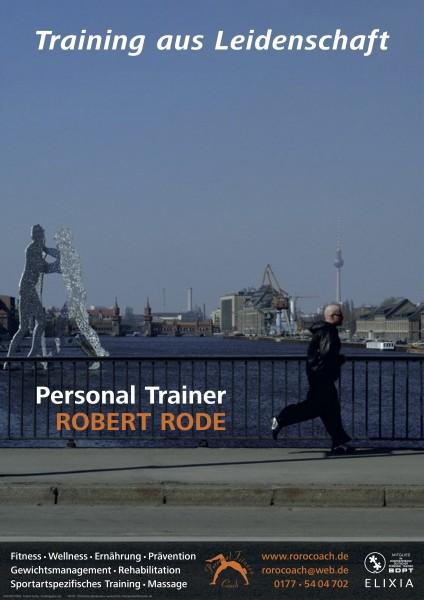 Werbeplakat 2006 Personal Trainer Robert Rode aus Berlin